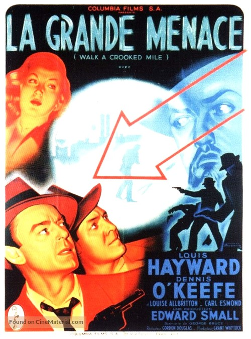 Walk a Crooked Mile - French Movie Poster