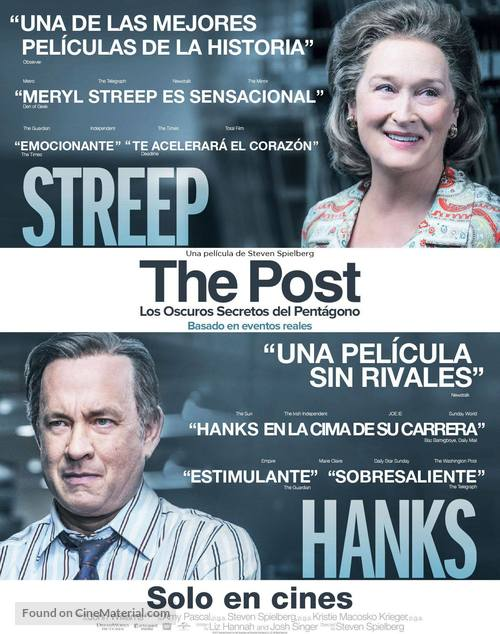 The Post - Mexican Movie Poster