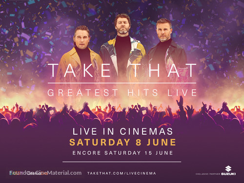 Take That - Greatest Hits Live (Concert) - British Movie Poster