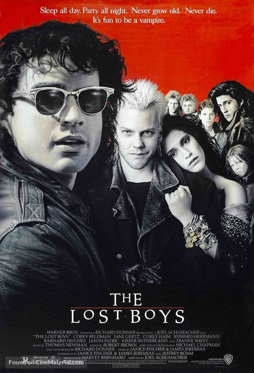 The Lost Boys - Theatrical movie poster