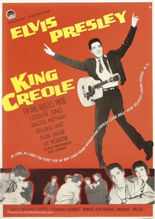 King Creole - Swedish Movie Poster