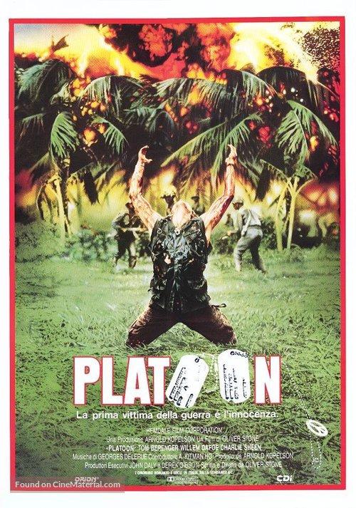 Platoon - Italian Movie Poster