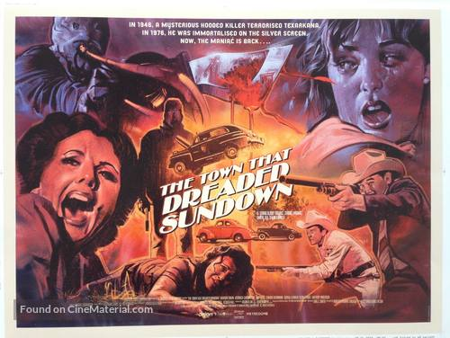 The Town That Dreaded Sundown - British Movie Poster