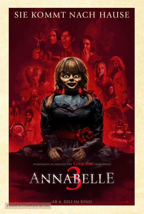 Annabelle Comes Home - German Movie Poster