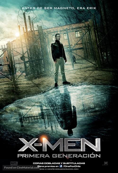 X-Men: First Class - Chilean Movie Poster