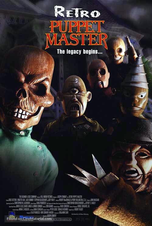 Retro Puppet Master - Movie Poster
