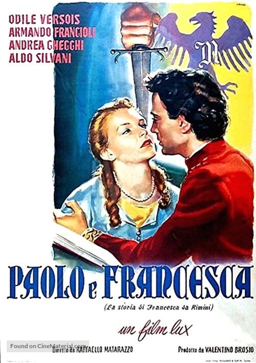 Paolo e Francesca - Italian Movie Poster
