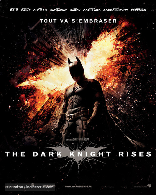 The Dark Knight Rises - French Movie Poster