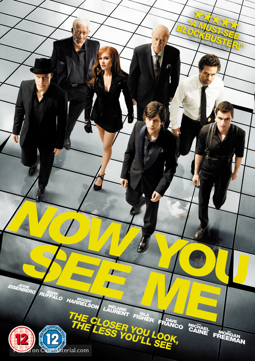 Now You See Me - British DVD cover