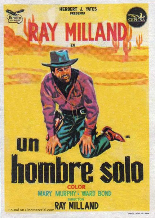 A Man Alone - Spanish Movie Poster