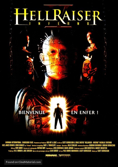 Hellraiser: Inferno - French Movie Cover