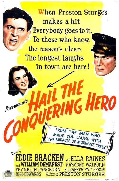 Hail the Conquering Hero - Movie Poster