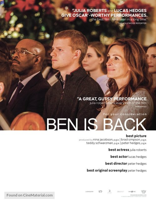 Ben Is Back - For your consideration movie poster