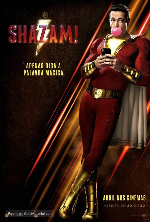 Shazam! - Brazilian Movie Poster