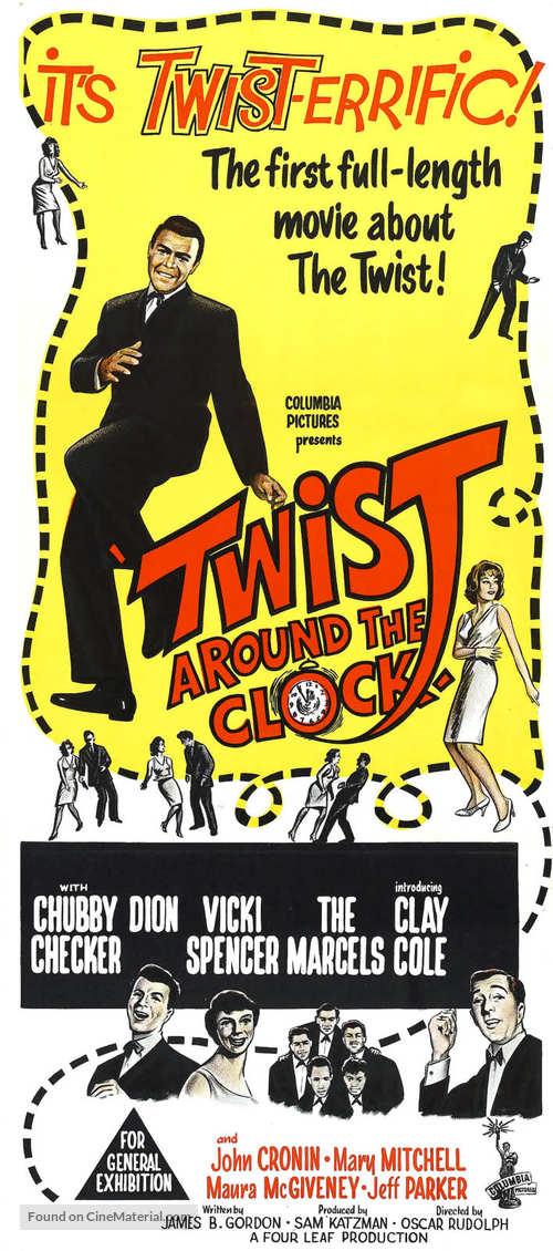 Twist Around the Clock - Australian Movie Poster