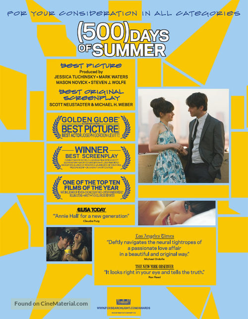 (500) Days of Summer - For your consideration poster