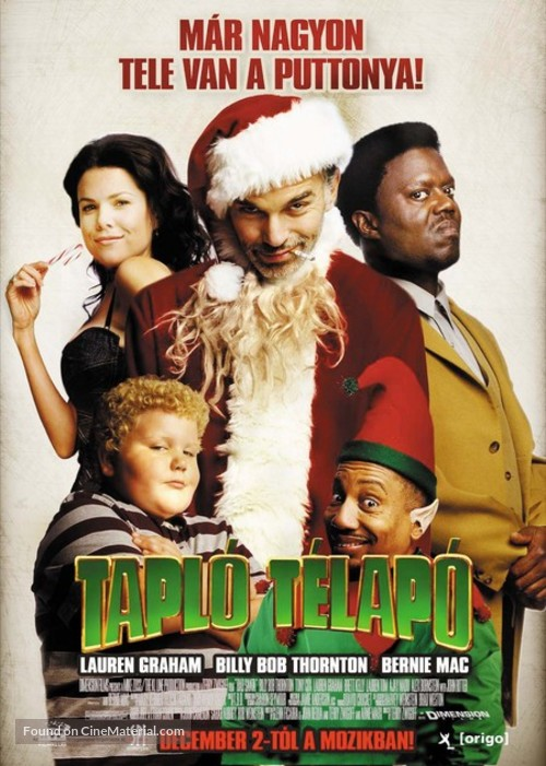 Bad Santa Hungarian Movie Poster