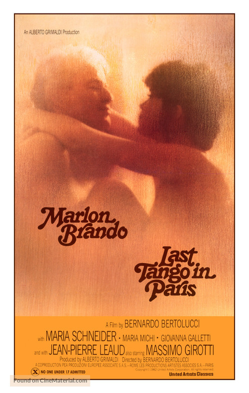 Ultimo tango a Parigi - Movie Poster