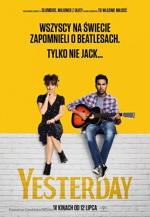 Yesterday - Polish Movie Poster