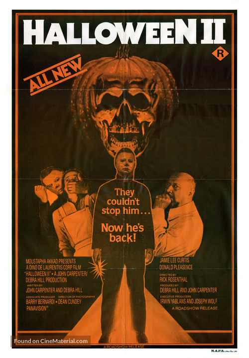 Halloween II - Australian Movie Poster