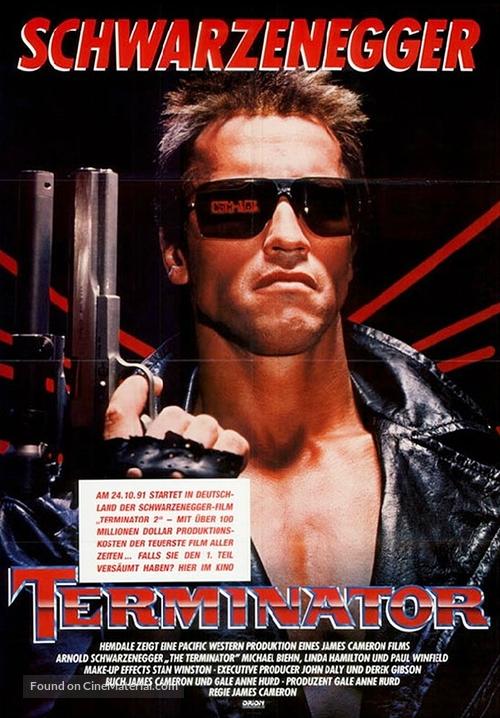 The Terminator - German Movie Poster