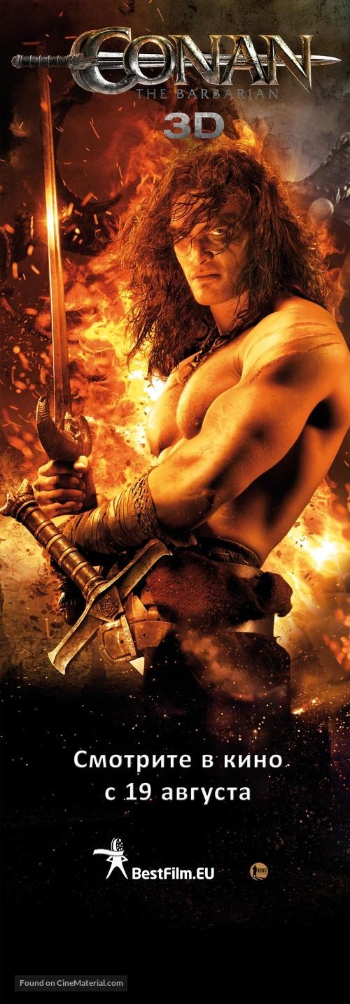 Conan the Barbarian (2011) Latvian movie poster