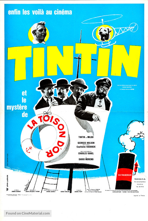 Tintin et le mystère de la toison d'or - French Movie Poster
