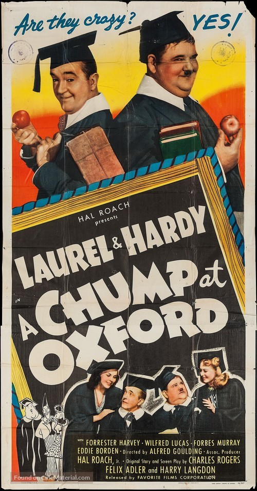A Chump at Oxford - Movie Poster