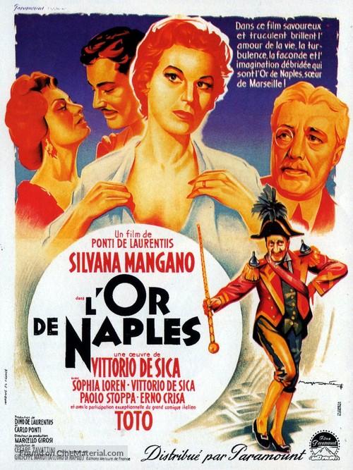 L'oro di Napoli - French Movie Poster