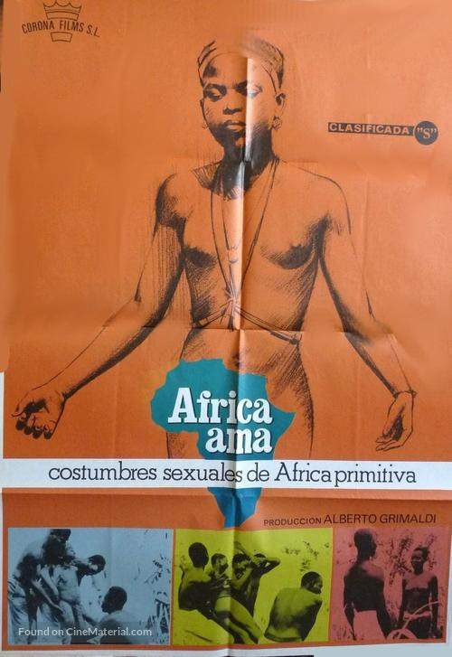 Africa ama - Spanish Movie Poster
