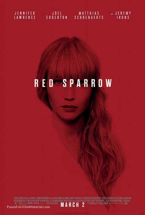 Red Sparrow - Theatrical movie poster