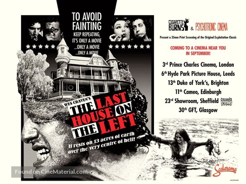 The Last House on the Left - British Movie Poster
