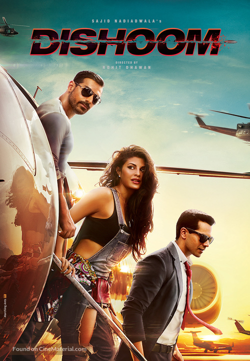 Poster of Dishoom 2016 720p Hindi BluRay Full Movie Download HD
