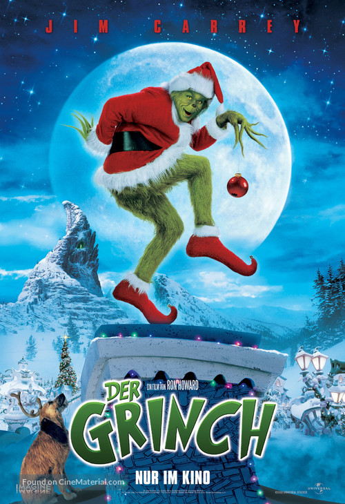 How the Grinch Stole Christmas - German Movie Poster