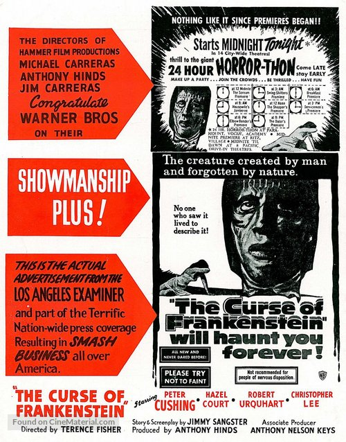 The Curse of Frankenstein - poster