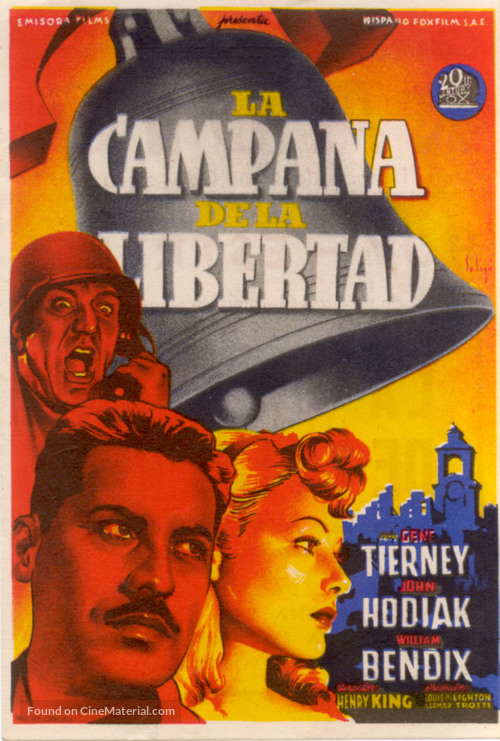A Bell for Adano - Spanish Movie Poster