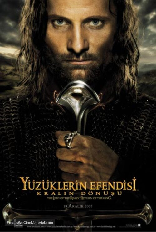The Lord of the Rings: The Return of the King - Turkish Movie Poster