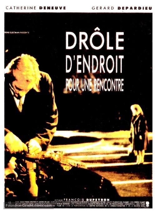 Drôle d'endroit pour une rencontre - French Movie Poster