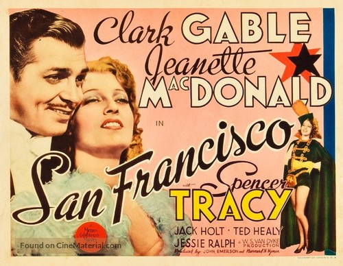 Image result for SAN FRANCISCO MOVIE POSTER