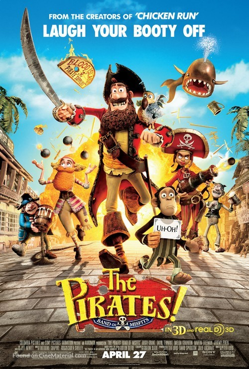 The Pirates! Band of Misfits - Movie Poster