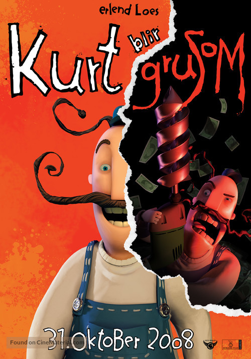 Kurt blir grusom - Norwegian Movie Poster