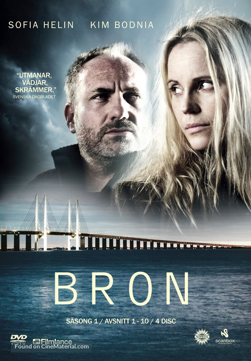 """Bron/Broen"" - Swedish DVD movie cover"