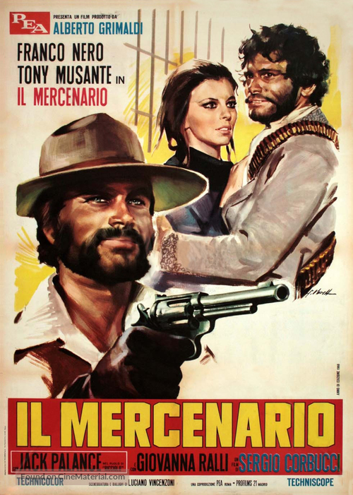 Il mercenario - Italian Movie Poster