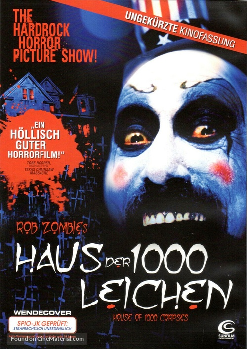 House of 1000 Corpses - German DVD movie cover