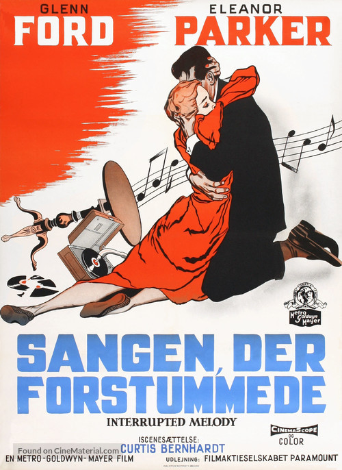 Interrupted Melody - Danish Movie Poster