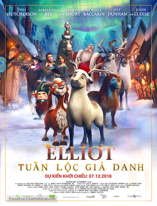Elliot the Littlest Reindeer - Vietnamese Movie Poster