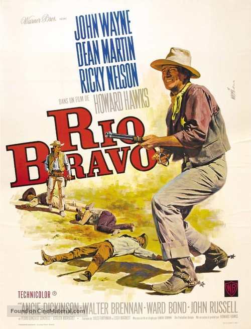 Rio Bravo - French Movie Poster
