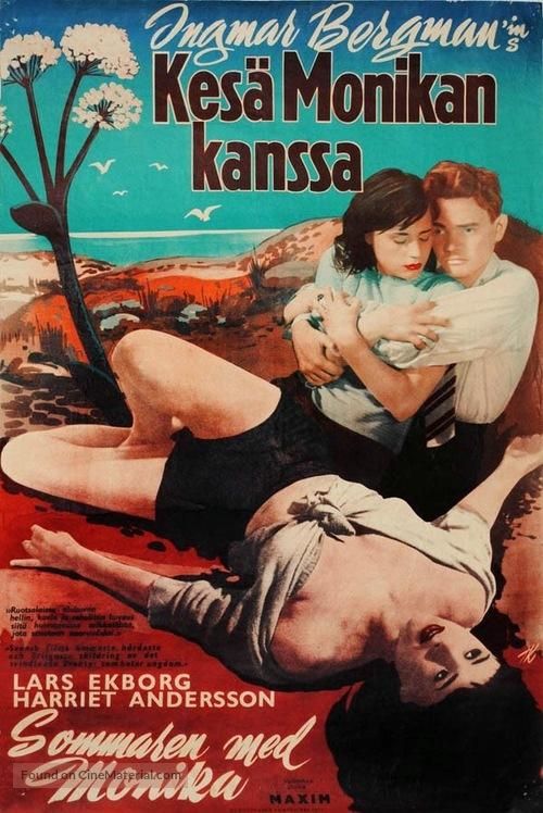 Sommaren med Monika - Finnish Movie Poster