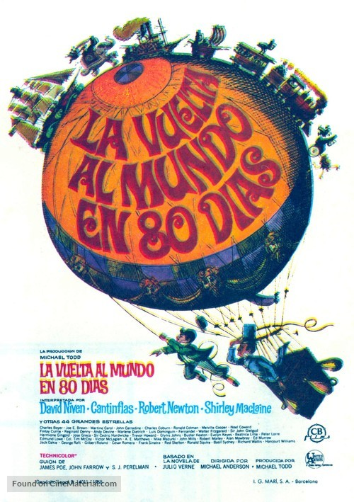 Around the World in Eighty Days - Spanish Movie Poster