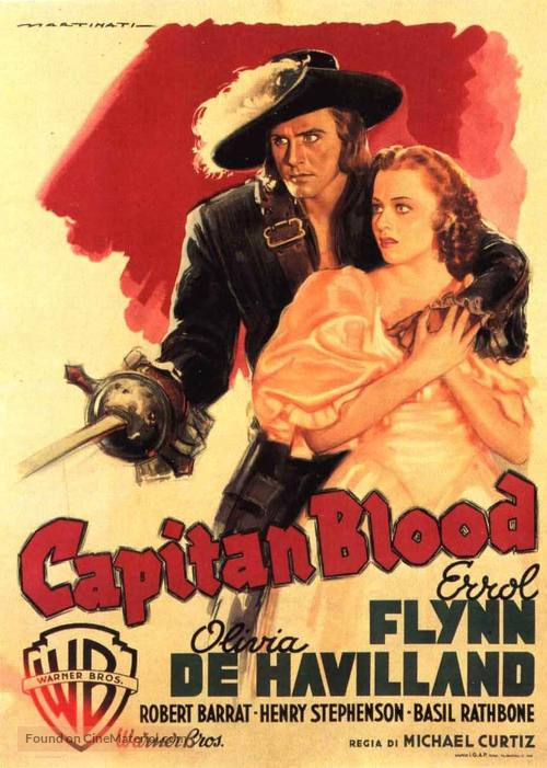 Captain Blood - Italian Movie Poster